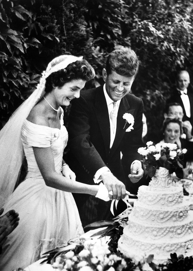 Jackie O and John F. Kennedy Celebrity Wedding Pictures | Cakeland ...