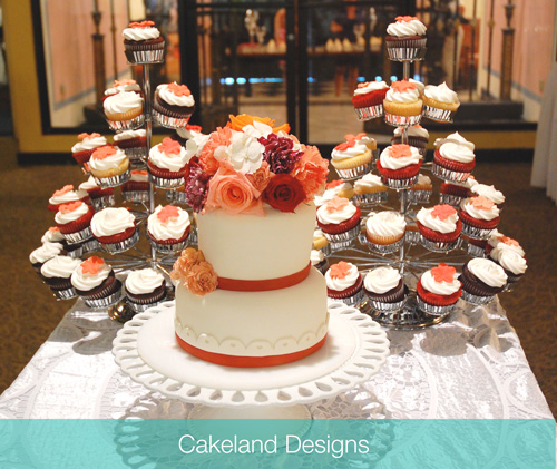 wedding cake cupcake tree cakeland designs blog. Black Bedroom Furniture Sets. Home Design Ideas